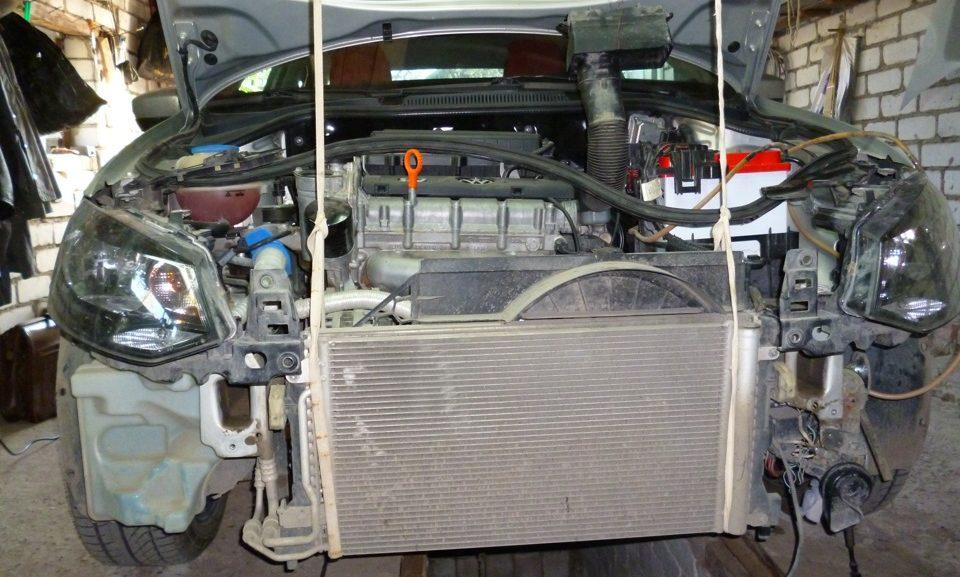 Замена радиатора фольксваген